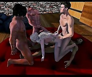 Second Life gangbang 11..